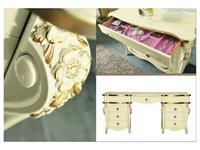 MobilPiu: Виола: стол туалетный (слоновая кость, золото)