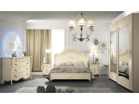 MobilPiu: Виола: спальная комната (слоновая кость, золото)