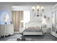 MobilPiu: Виола: кровать двуспальная 180х200 (белый, серебро)