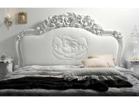 MobilPiu: Виола: кровать 160х190 (белый, серебро, экокожа)
