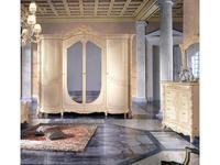 MobilPiu: Madame Royale: шкаф 4-х дверный (слоновая кость, золото)