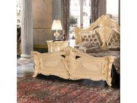 MobilPiu: Madame Royale: кровать 160х190 со Swarovski (слоновая кость, золото, бархат)