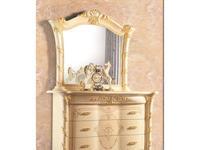 MobilPiu: Madame Royale: зеркало для комода (слоновая кость, золото)