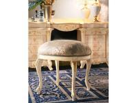 MobilPiu: Madame Royale: пуф (слоновая кость, золото, ткань)