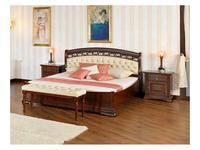 Mobex Мобекс: Элеганс: кровать 160х200 NTA (орех, кожа 496)