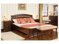 Mobex Мобекс: Элеганс: кровать 180х200 NA (орех)