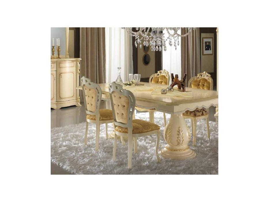 MobilPiu: Регина: стул Барокко ткань беж (слоновая кость, золото)