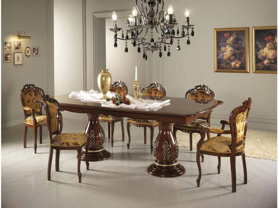 MobilPiu: Регина: стол обеденный  раскладной (орех)