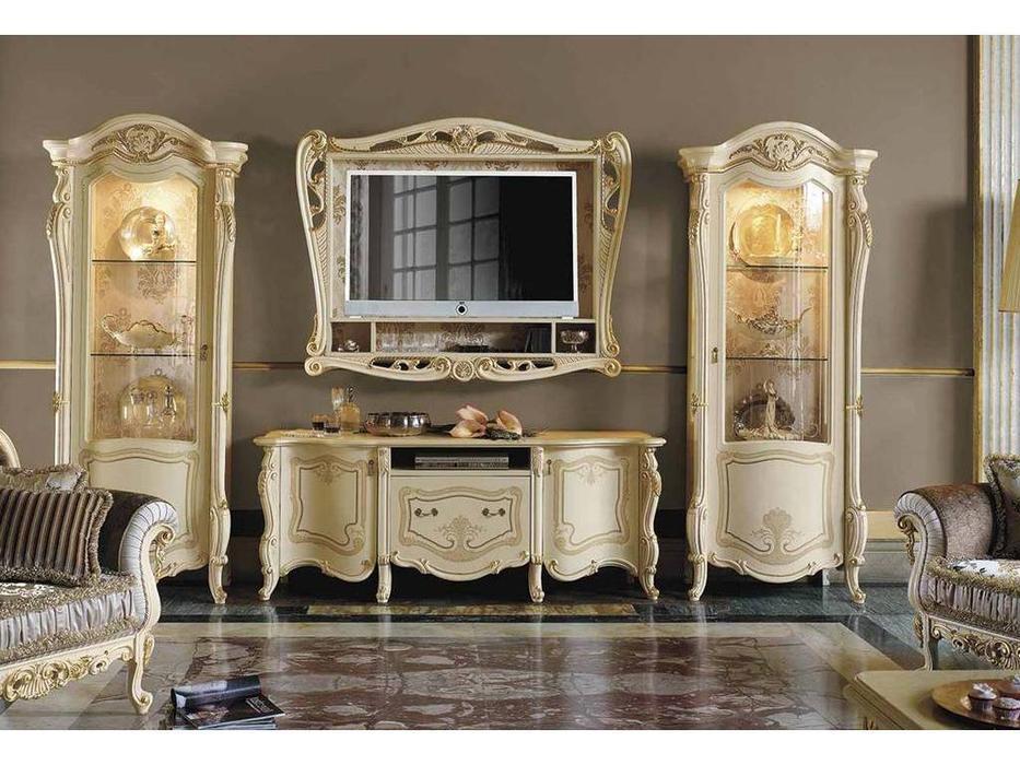 MobilPiu: Опера: панель ТВ (слоновая кость, золото)