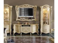 MobilPiu: Опера: тумба под телевизор (слоновая кость, золото)