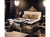 Mariner Маринер: Volga: кровать 180х200 Волга  ткань (орех, золото)