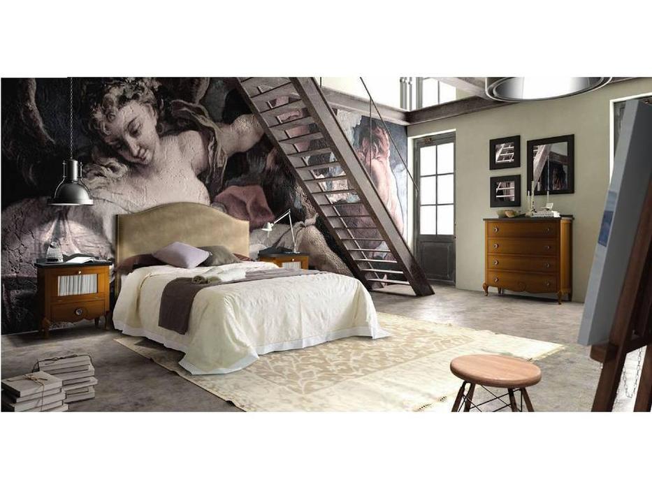 Grupo Seys: Volga: кровать 160х200 Bristol  (Caramelo, ткань)