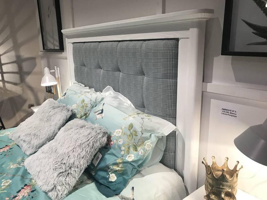 Grupo Seys: Cerdena: кровать  150х200 (Blanco Lienzo) ткань