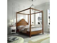 Grupo Seys: Volga: кровать 160х200 с балдахином  (miel patinado)
