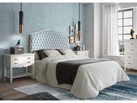 Grupo Seys: Amberes: кровать Bristol  150х200 (Blanco Decape) ткань