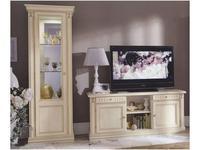 M. Villanova: Анжелика: витрина 1 дверная левая  (беж, золото)
