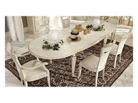 M. Villanova: Анжелика: стол обеденный овальный раскладной  (беж, золото)