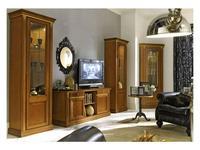 M. Villanova: Анжелика: витрина 1 дверная левая  (черешня, золото)