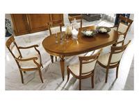 M. Villanova: Анжелика: стол обеденный овальный раскладной  (черешня, золото)