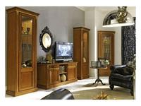 M. Villanova: Анжелика: тумба под телевизор 2-х дверная  (черешня, золото)