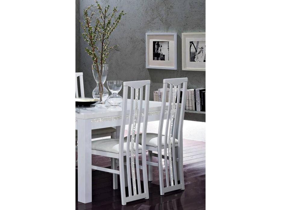 Mobilifiсio Мобилфицио: Roma cromo: стул (белый лак)