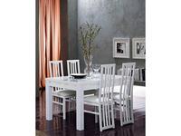 Mobilifiсio Мобилфицио: Roma cromo: стол обеденный (белый лак)
