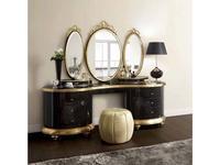 Jetclass: Venezia: стол туалетный  (черный, золото)