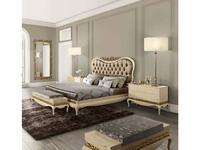 Jetclass: Luxus: кровать двуспальная 160х200  (крем, ткань)