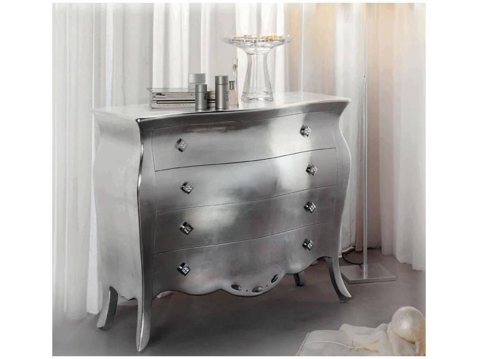 Artecesar: комод 4 ящика Victoria  (состаренное серебро)