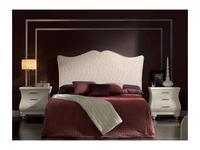 Artecesar: изголовье кровати 160 Gala  ткань IT Flores (blancas)