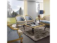 Jetclass: Capri: стол журнальный  (черный, золото)