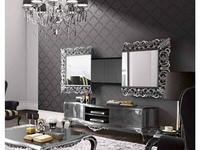 Jetclass: Capri: модуль для ТВ, зеркало  (серебро)