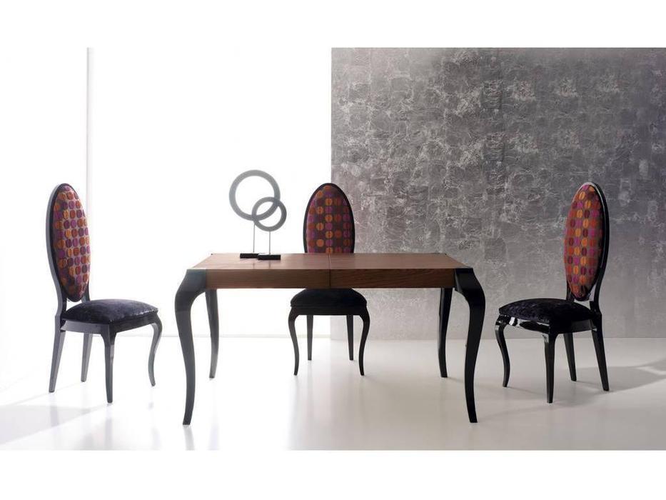 La Ebanisteria: Bauhaus: стол обеденный раскладной 140х200 Баухаус  (negro piano,nogal 2)