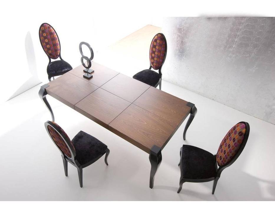 La Ebanisteria: Bauhaus: стол обеденный раскладной 160х220 Баухаус  (negro piano,nogal 2)