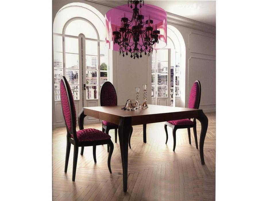 La Ebanisteria: Agora: стол обеденный 130х130 раскладной  (nogal patinado,negro)
