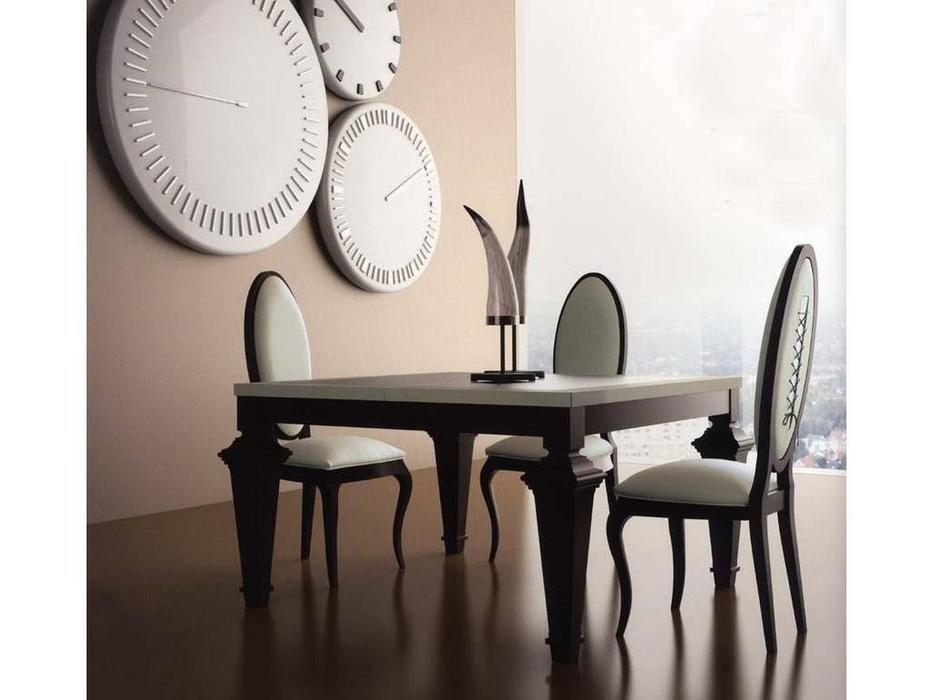 La Ebanisteria: Opera: стол обеденный 130х130 раскладной  (cebano, champagne)