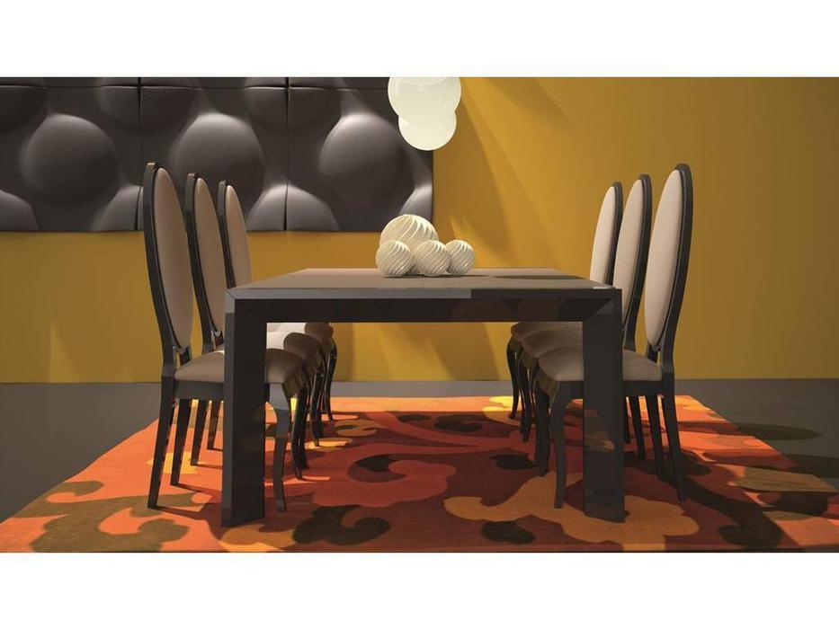 La Ebanisteria: Double: стол обеденный  раскладной 130х130 (Pelle Cioccolato)