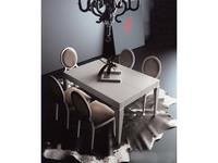 La Ebanisteria: Dolce Vita: стол обеденный 140х100 раскладной  (bianco patinado)