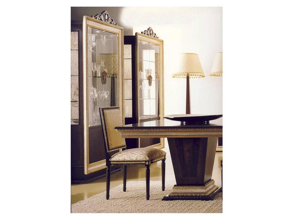 Alta Moda Альтамода: Ательер: стол обеденный раскладной 200х110 см  (венге, серебро)