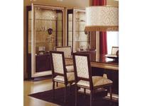 Alta Moda Альтамода: Ательер: стул  ткань (венге, серебро, беж золото)