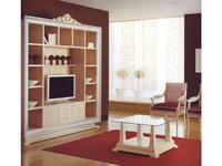 Alta Moda Альтамода: Ательер: библиотека с местом под ТВ  ткань (венге, серебро, беж золото)