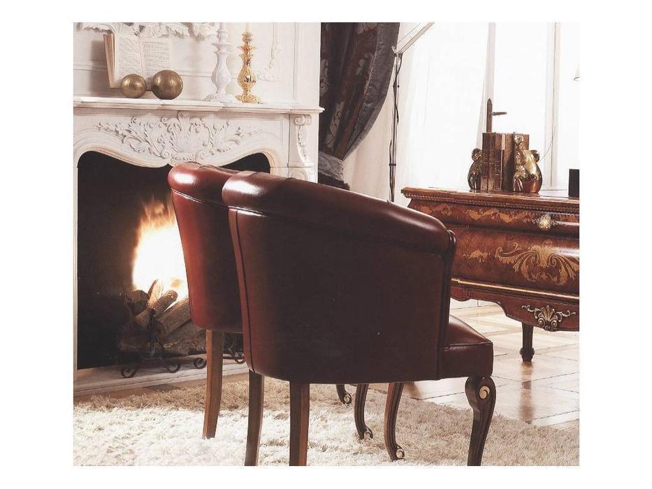 Grilli Грилли: Рондо: кресло  (орех) кожа cat.A