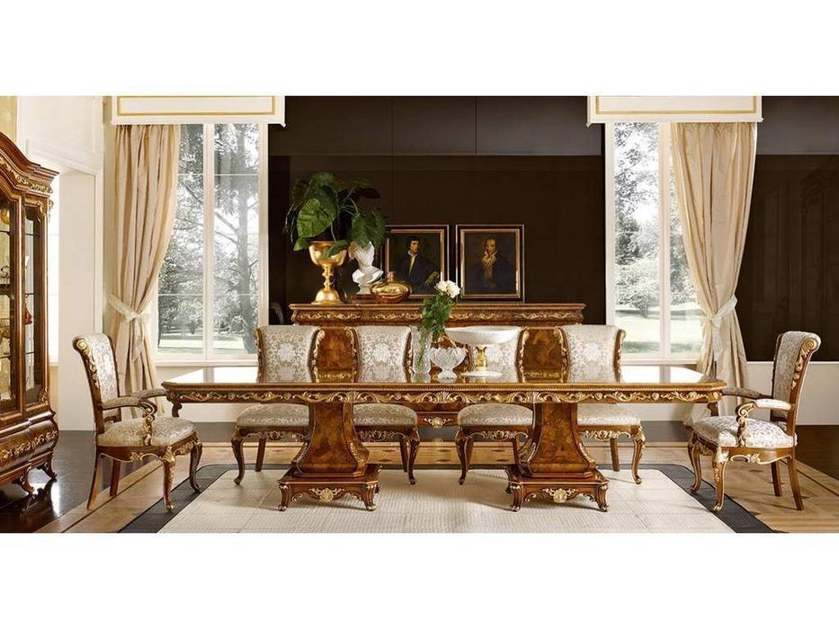 Grilli Грилли: Версаллес: стол обеденный раскладной  (орех, позолота)