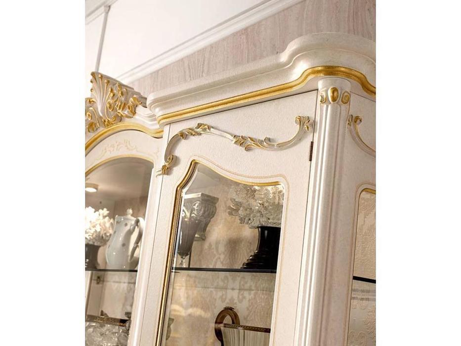 Grilli: Doge: витрина 3 дверная  (слоновая кость, золото)