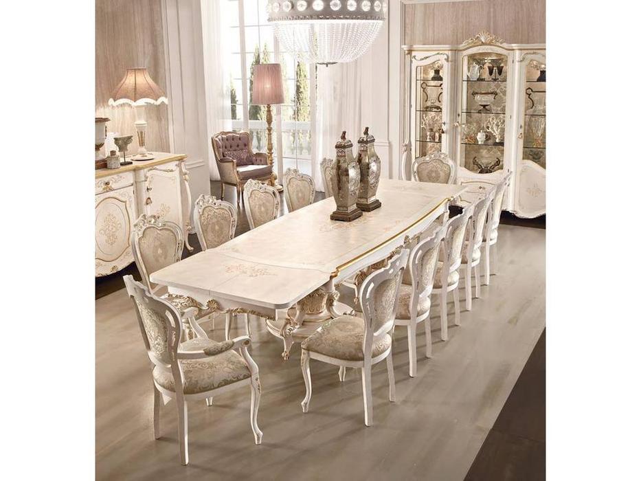 Grilli: Doge: стол обеденный  раскладной (слоновая кость, золото)