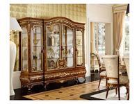 Grilli Грилли: Версаллес: витрина 4-х дверная  (орех, позолота)