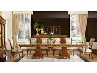 Grilli: Версаллес: стол обеденный раскладной  (орех, позолота)