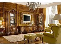 Grilli Грилли: Ле Розе: витрина 1 дверная  (орех, инкрустация)