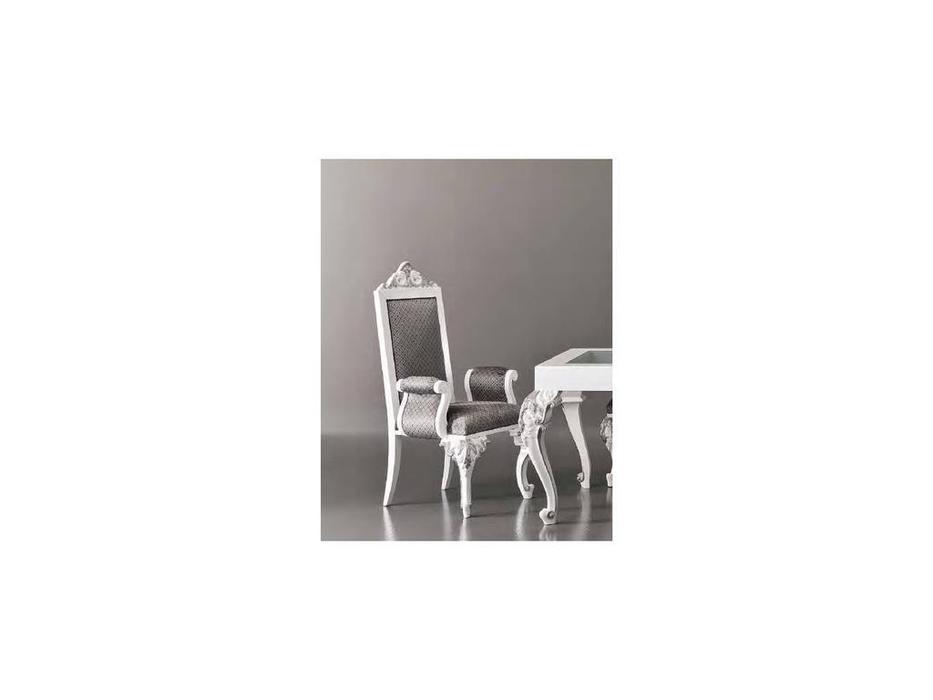 Modenese Gastone: Minimal Baroque: полукресло  кат. C,ткань (белый)