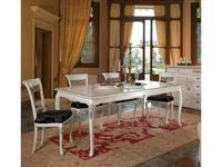 Modenese Gastone: Serena: стол обеденный  раскладной (белый)